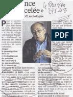 13e27 LParisien Entrevista JP L Goff Análisis Manif pour tous