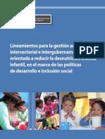 Lineamientos para la gestión articulada intersectorial e intergubernamental orientada a reducir la desnutrición crónica infantil, MIDIS