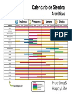 Calendario Siembra Aromaticas LechugaTomateYCebolla