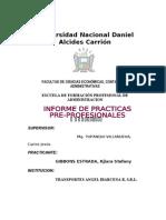 Informe de Practicas Pre Profesionales