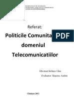 Politicile Comunitare Un Domeniul Telecomunicatiilor