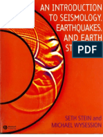 An Introduction to Seismology, Earthquakes, And Earth Structure - Stein and Wysession - Blackwell - 2003