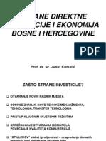 Strane Direktne Investicije i Ekonomija Bosne i Hercegovine