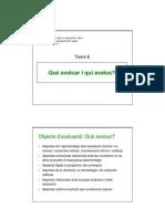 Planificació i avaluació (Tema 6)