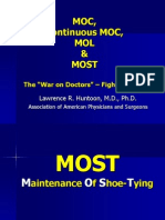 MOC, Continuous MOC, MOL & now MOST - Maintenance Of Shoe-Tying