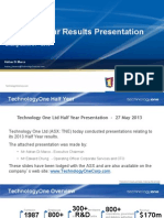 TNE 2013 Half Year Roadshow Presentation