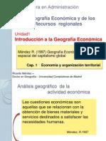 GEOGRAFÍA ECONÓMICA Y RECURSOS REGIONALES