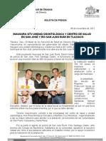 09/11/11 Germán Tenorio Vasconcelos NAUGURA GTV UNIDAD ODONTOLOGICA Y CENTRO DE SALUD EN SAN JOSE Y RIO SAN JUAN ÑUM_0