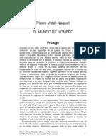 Vidal-Naquet - El mundo de Homero. Prólogo (pasaje)