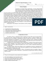 Atividades de Lc3adngua Portuguesa 3c2ba Ano Ensino Mc3a9dio Com Descritores