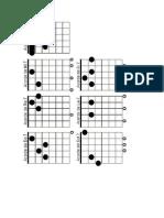 Posiciones de Acordes 7 Para Guitarra