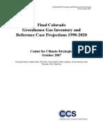 2007 Colorado Greenhouse Gas Inventory