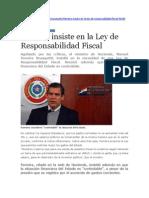 Ferreira Insiste en La Ley de Responsabilidad Fiscal