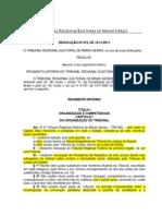 TRE MG Regimento Interno Res 873
