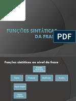 f. sintáticas ao nível da frase (1)