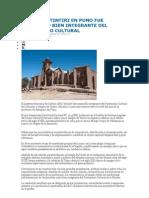 Templo de Tintiri en Puno Fue Declarado Bien Integrante Del Patrimonio Cultural