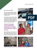 CARISHINA RACE LIBRE Y AVENTURERA PRIMERA VÁLIDA DEL 2013