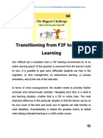 Transitioning From F2F to Online Learning