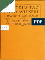 Laotzus Tao and Wu Wei - Dwight Goddard & Henri Borel