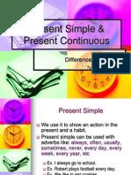 Present Simple y Continuous