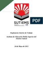Reglamento Interior de Trabajo 2013
