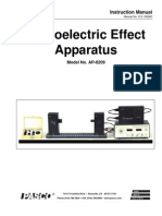 Photoelectric Effect Apparatus Manual AP 8209