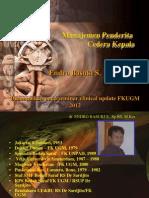 Manajemen Penderita Cedera Kepala fk ugm 2012