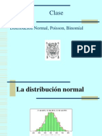 Clase Normal Binomial Poisson