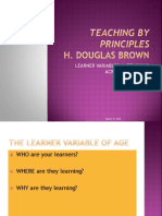 Teaching by Principles - The Age Levels