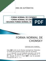 FN Chomsky & 1 y 2 FN Greibach