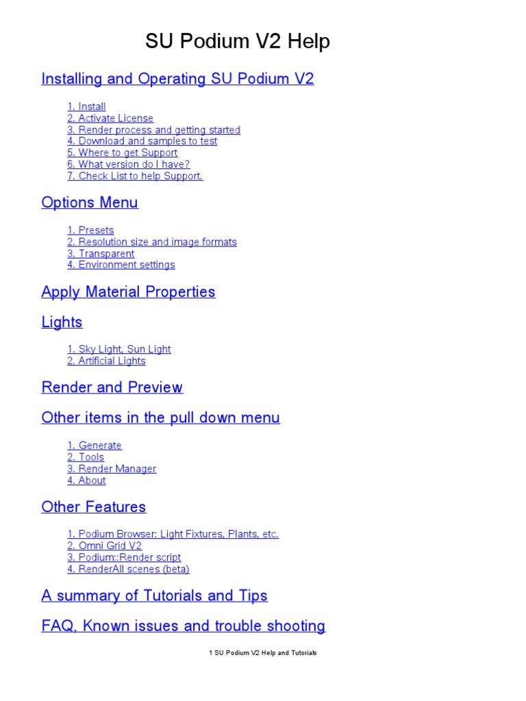 su podium browser v2 serial number