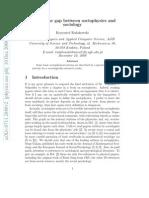 Gap Physics and Sociology