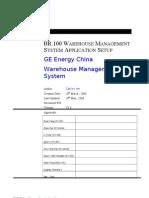 BR100 Warehouse Management System Application Setup V1.6