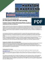 XVII MARATÓN ALPINO MADRILEÑO Nota prensa oficial 16may13