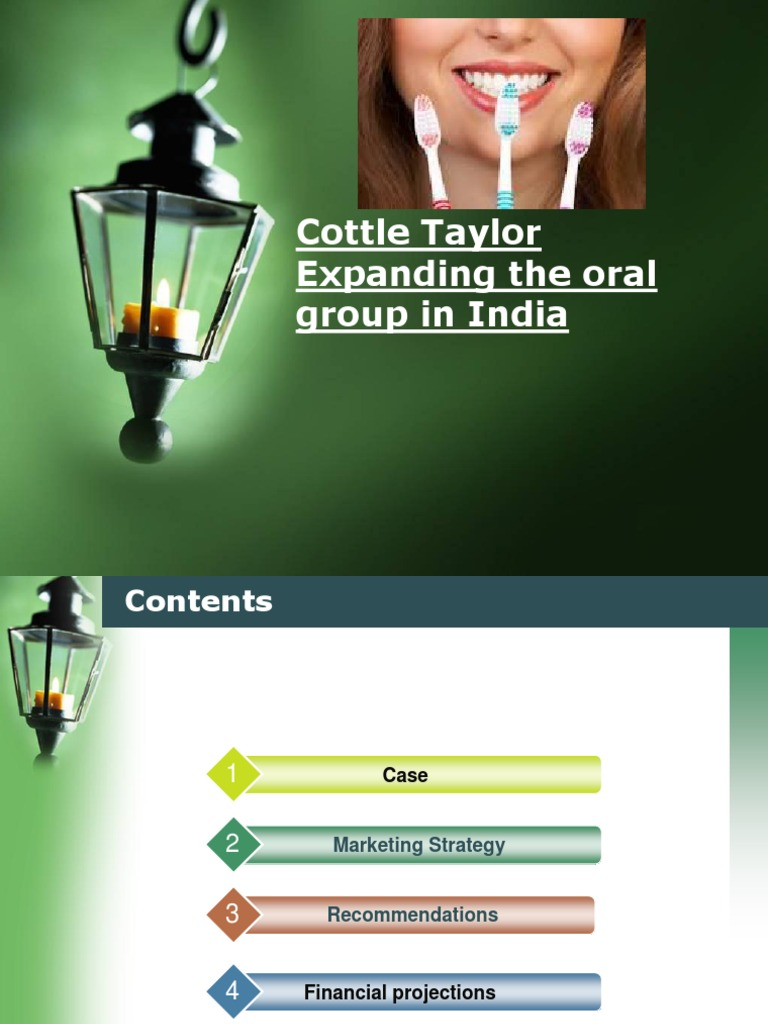 cottle taylor case analysis essay Cottle – taloy : expanding the oral group in india background cottle taylor was founded as a start hyup company in 1815 by 2009 they boast a product selection of.