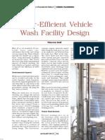 Water Efficient Vehicle Wash Design