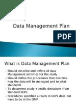 Data Management Plan