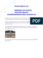 See Memorial Day Photos Houston Heights Congresswoman Sheila Jackson Lee