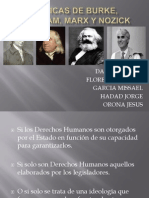 Criticas de Burke, Bentham, Marx y Nozick