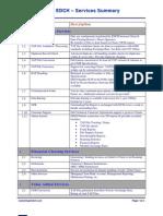 EDCH Services Summary