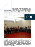 Ayer noche se celebró la Asamblea Abierta de Convocatoria por el Cambio en Archena
