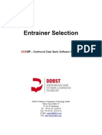 Entrainer Selection