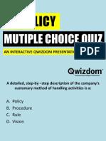 Hr Policy Quiz