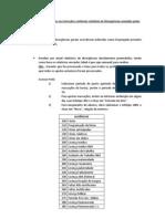 Procedimento para lançamentos das informações enviadas nos relatórios de divergências