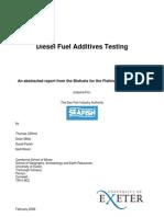 Diesel Fuel Additives Testing