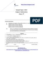 Cbse 10 Class Maths Sample Paper 2013