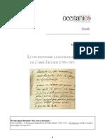 Dictionnaire languedocien de l'abbé Séguier / Claire Torreilles