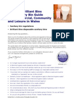 Brilliant Bins - The Sanitary Bin Guide for Business, Community and Leisure - Wales
