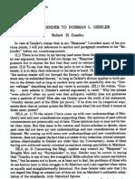Gundry - A Surrejoinder to Norman Geisler (JETS 26-1-Pp109-115) (1983)