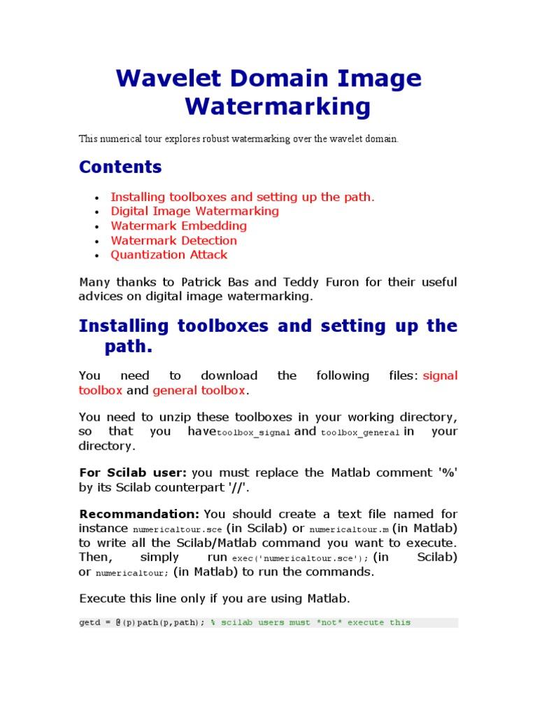 Wave Let Domain Image Water Marking | Variance | Wavelet
